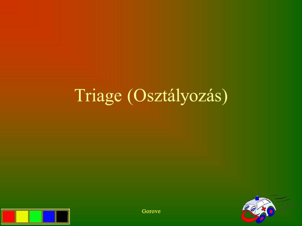 Triage (Osztályozás) Gorove