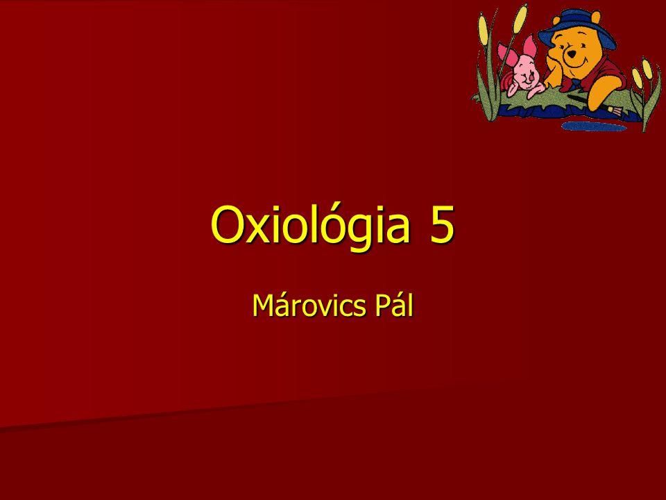 Oxiológia 5 Márovics Pál