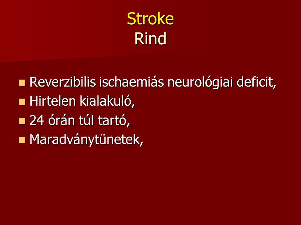 Stroke Rind Reverzibilis ischaemiás neurológiai deficit,