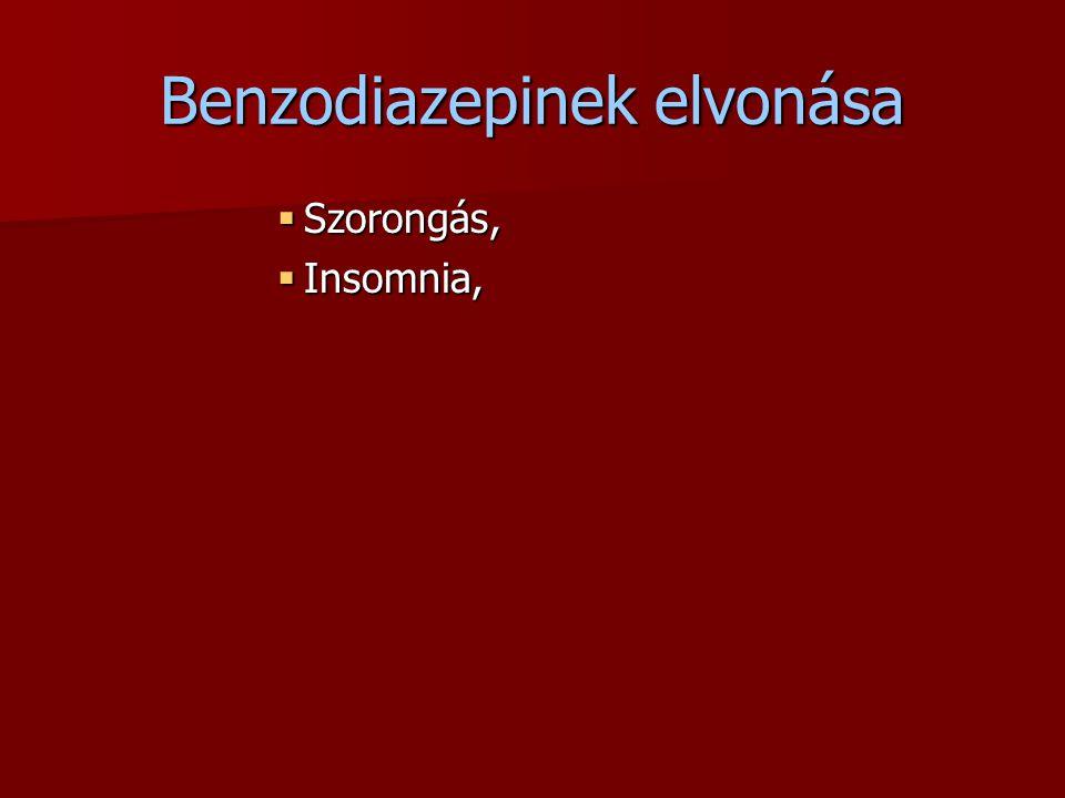 Benzodiazepinek elvonása
