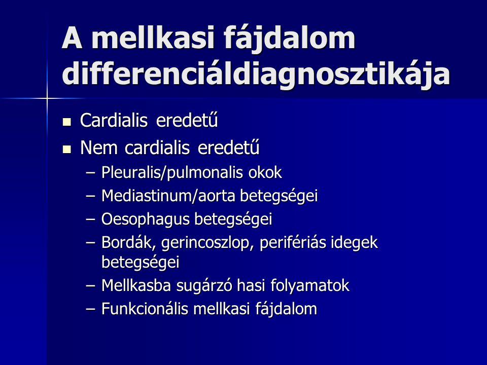 A mellkasi fájdalom differenciáldiagnosztikája