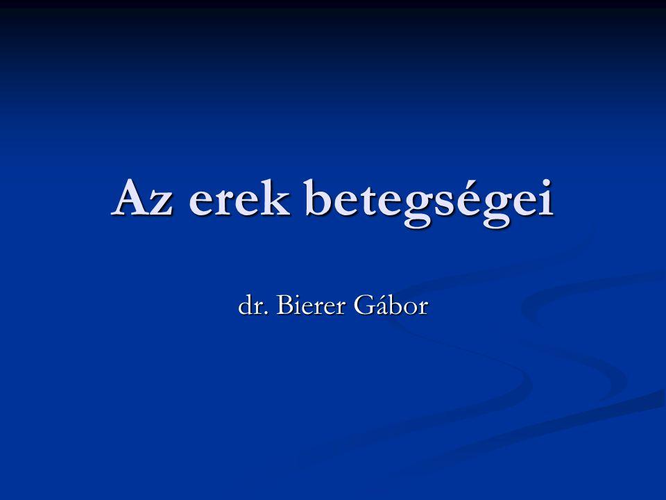 Az erek betegségei dr. Bierer Gábor