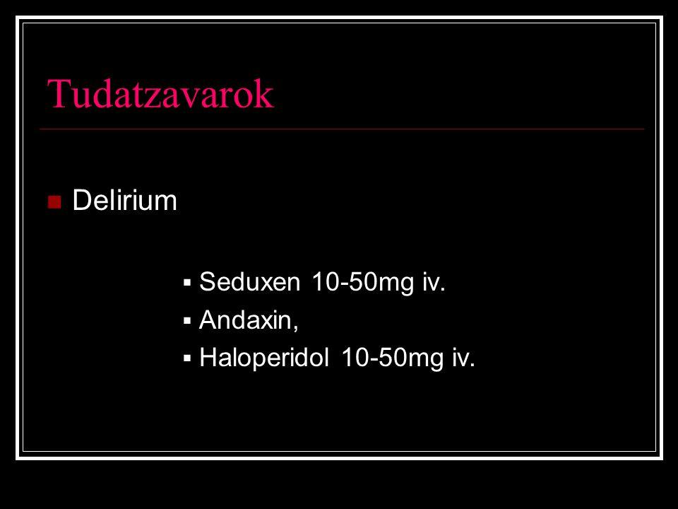 Tudatzavarok Delirium Seduxen 10-50mg iv. Andaxin,