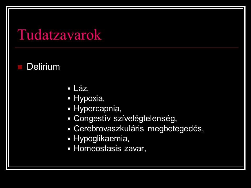 Tudatzavarok Delirium Láz, Hypoxia, Hypercapnia,