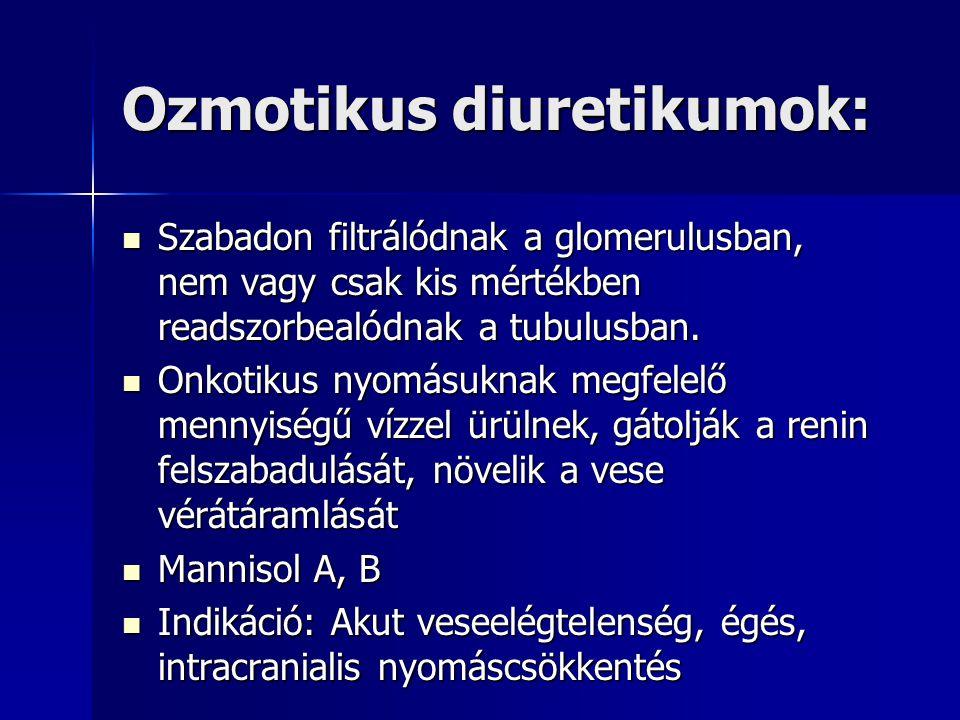 Ozmotikus diuretikumok: