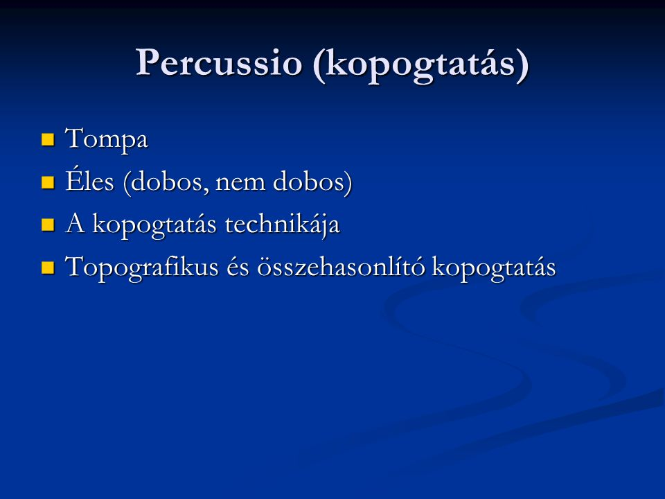 Percussio (kopogtatás)