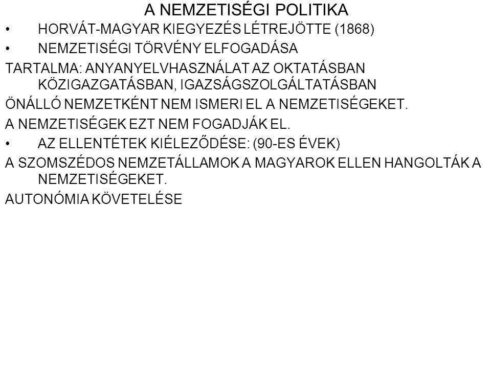 A NEMZETISÉGI POLITIKA