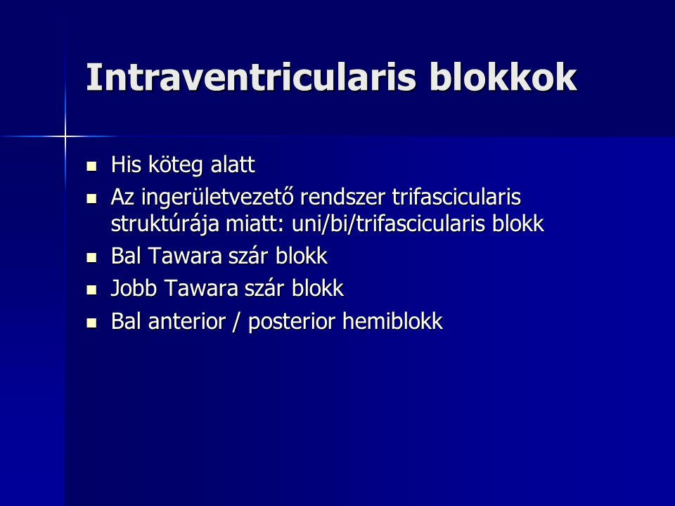 Intraventricularis blokkok