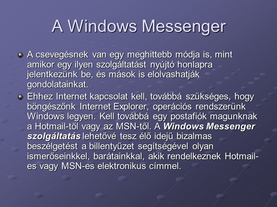 A Windows Messenger
