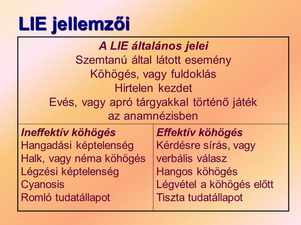 LIE jellemzői