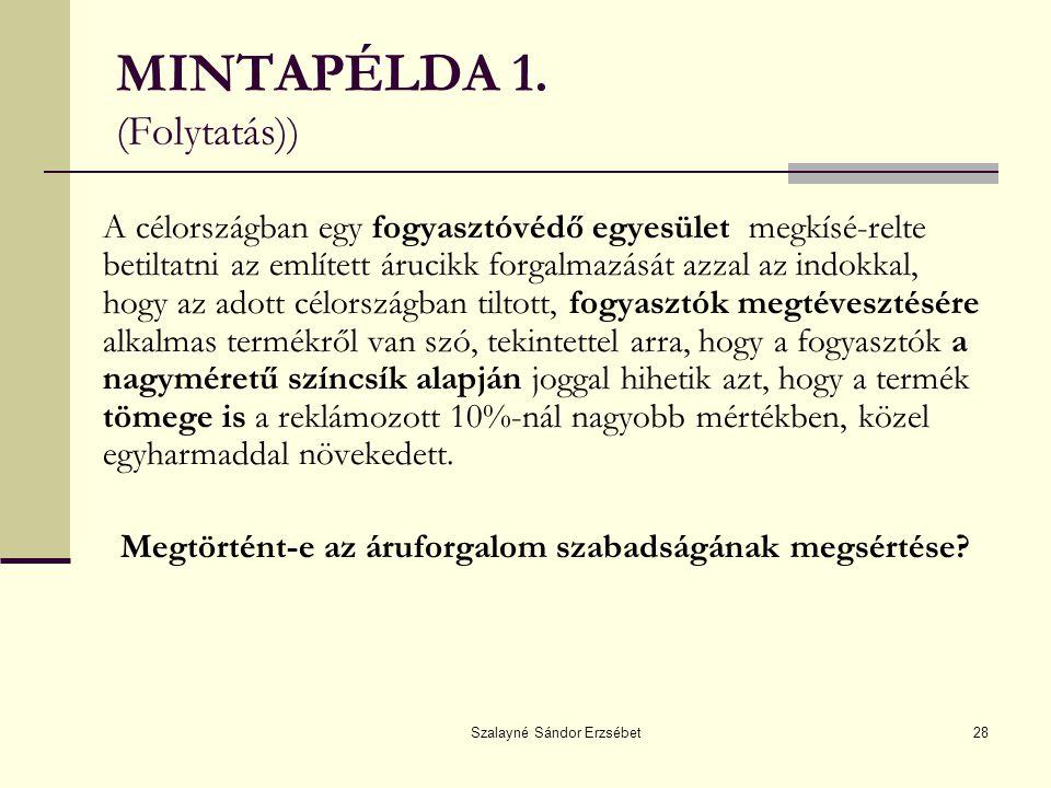 MINTAPÉLDA 1. (Folytatás))