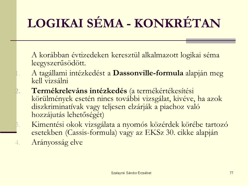 LOGIKAI SÉMA - KONKRÉTAN