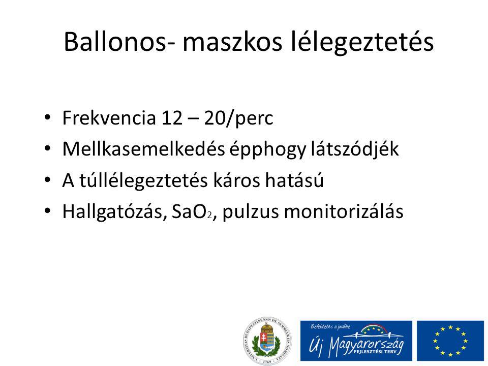 Ballonos- maszkos lélegeztetés