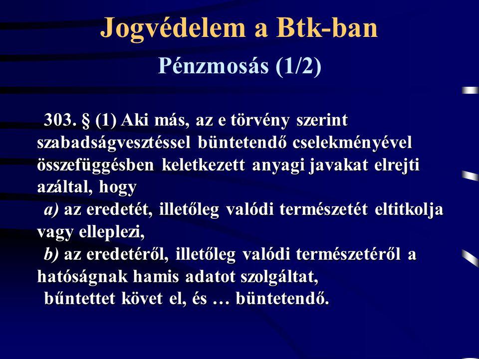 Jogvédelem a Btk-ban Pénzmosás (1/2)