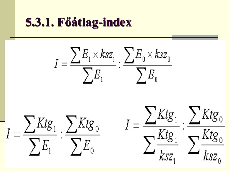 5.3.1. Főátlag-index