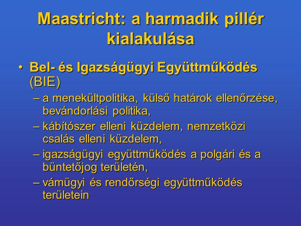 Maastricht: a harmadik pillér kialakulása