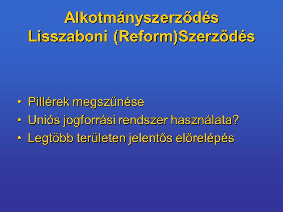Alkotmányszerződés Lisszaboni (Reform)Szerződés