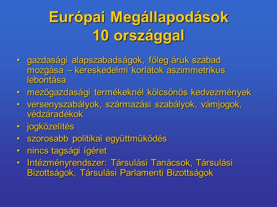 Európai Megállapodások 10 országgal