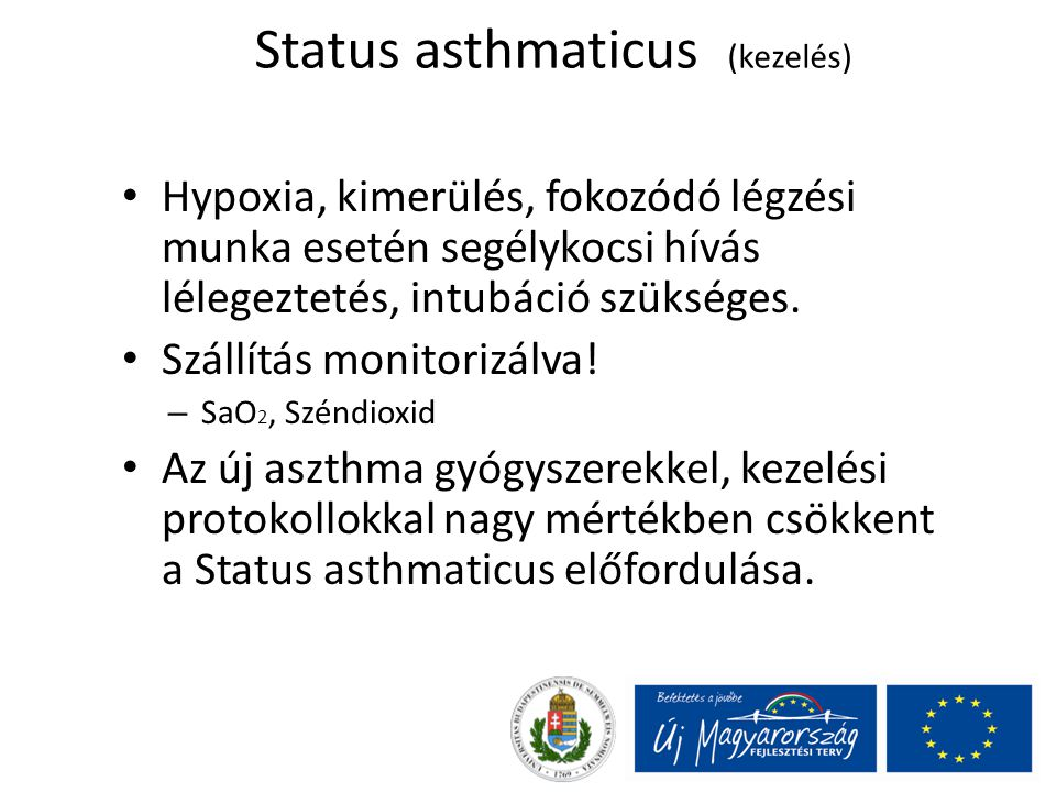 Status asthmaticus (kezelés)