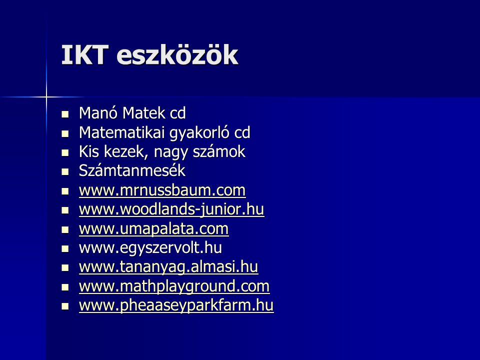 IKT eszközök Manó Matek cd Matematikai gyakorló cd
