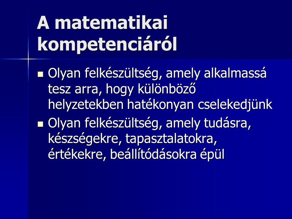 A matematikai kompetenciáról