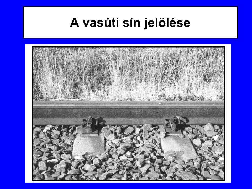 A vasúti sín jelölése