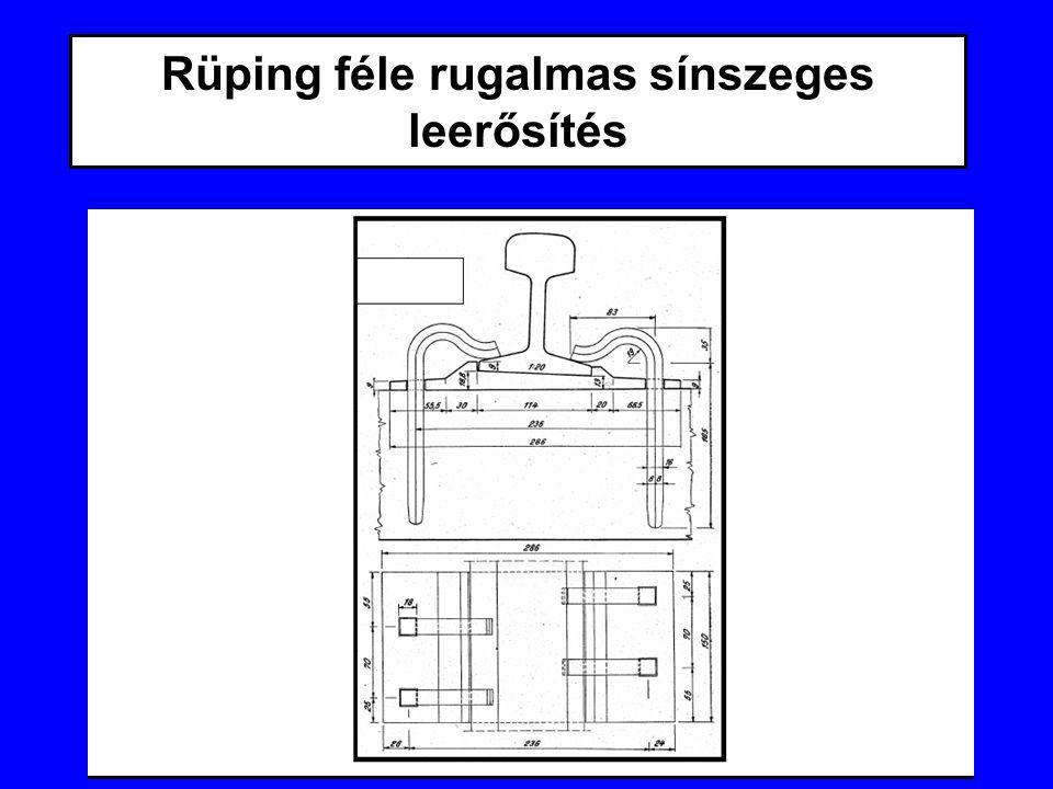 Rüping féle rugalmas sínszeges leerősítés