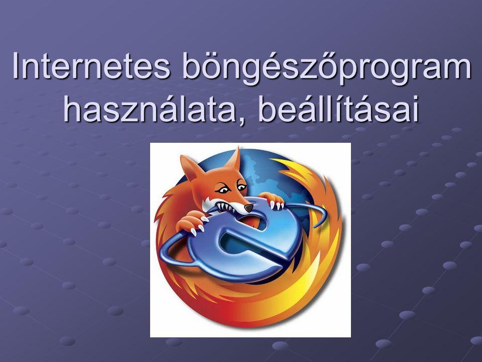 Internetes böngészőprogram használata, beállításai