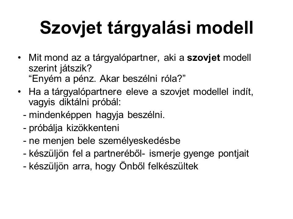Szovjet tárgyalási modell