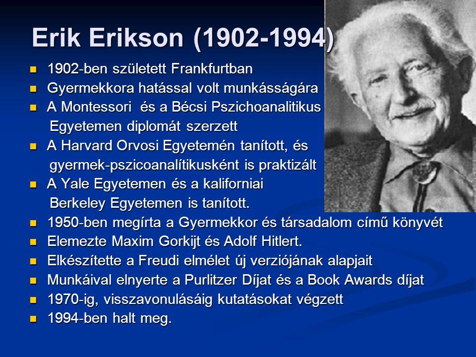 Erik Erikson (1902-1994) 1902-ben született Frankfurtban