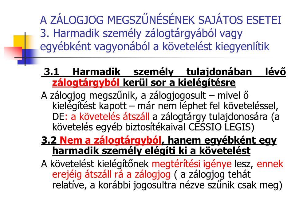 A ZÁLOGJOG MEGSZŰNÉSÉNEK SAJÁTOS ESETEI 3