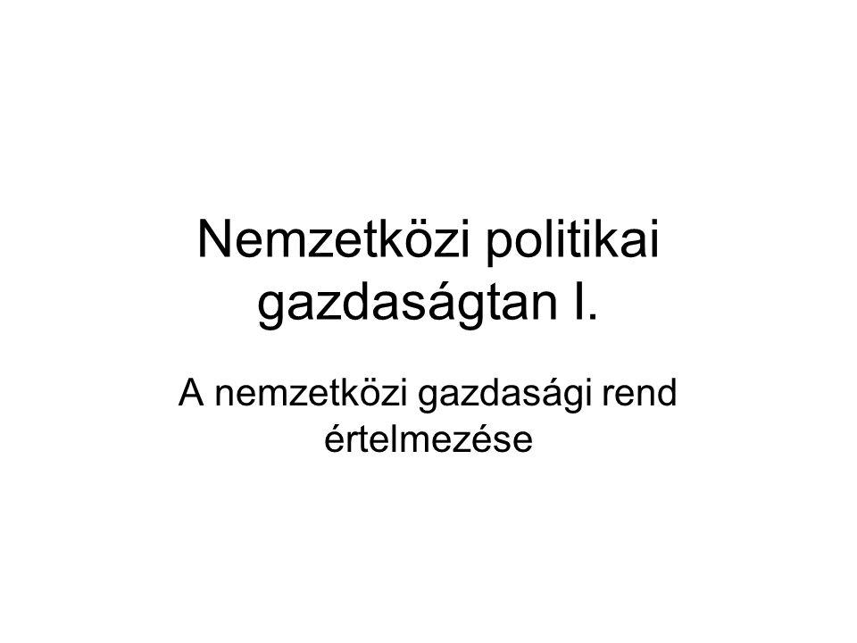 Nemzetközi politikai gazdaságtan I.