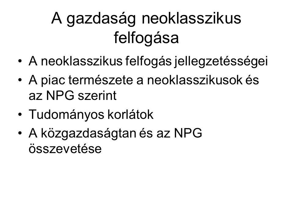 A gazdaság neoklasszikus felfogása