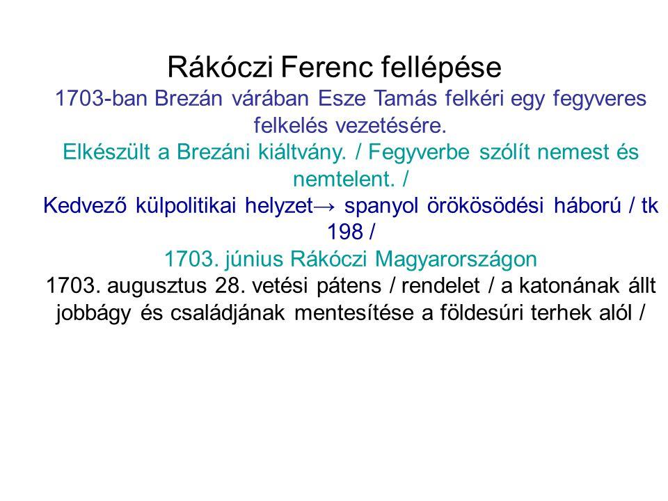 Rákóczi Ferenc fellépése