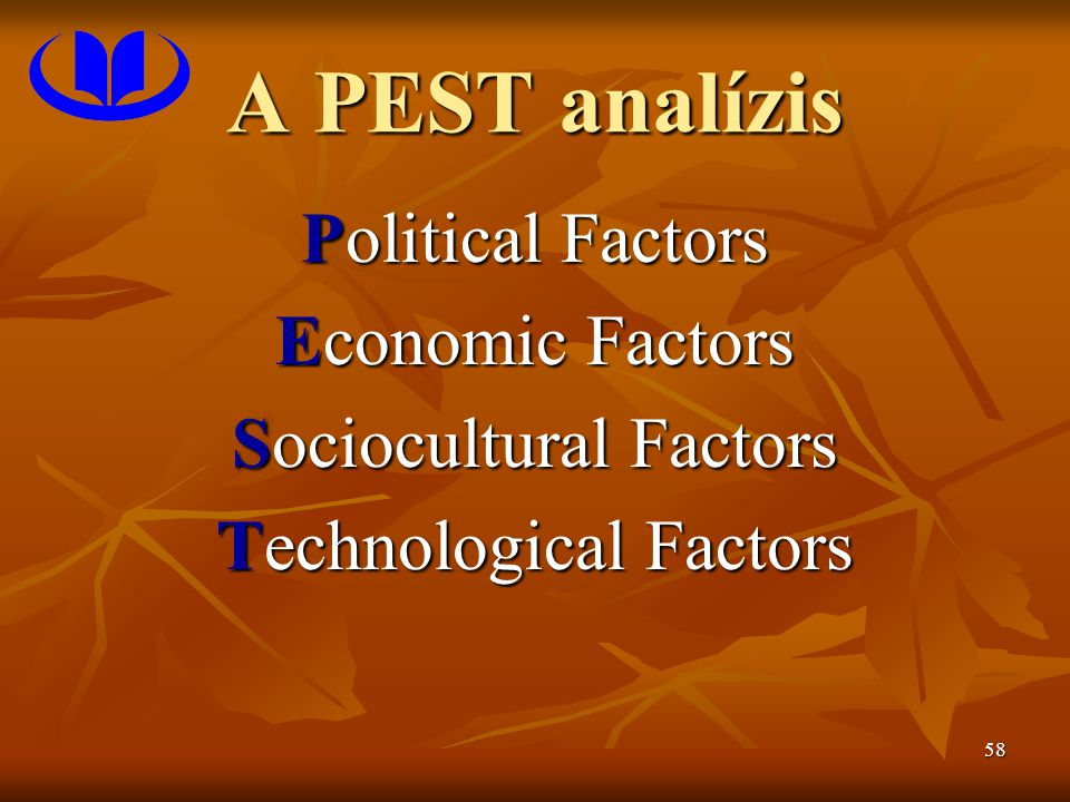 A PEST analízis Political Factors Economic Factors