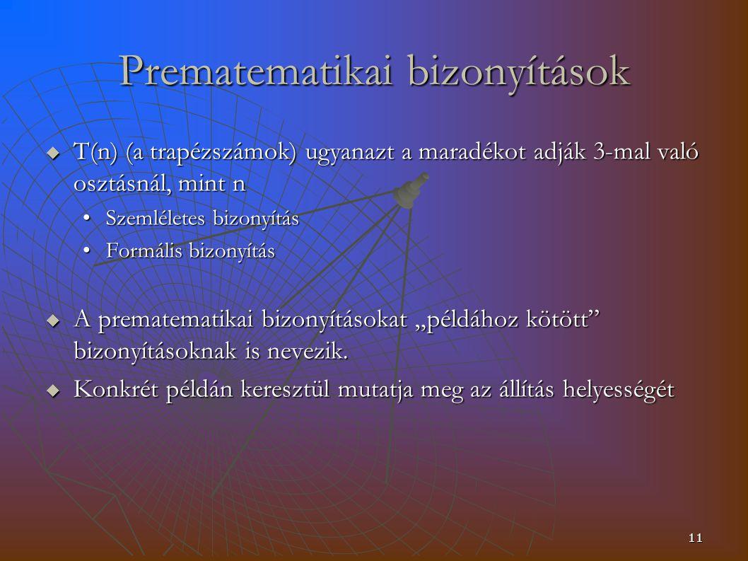 Prematematikai bizonyítások
