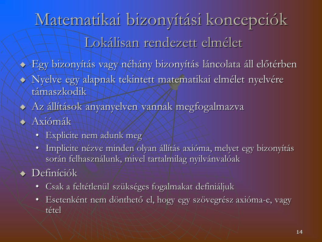 Matematikai bizonyítási koncepciók Lokálisan rendezett elmélet