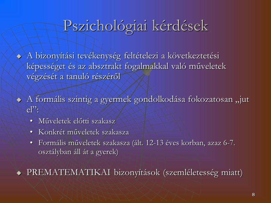 Pszichológiai kérdések