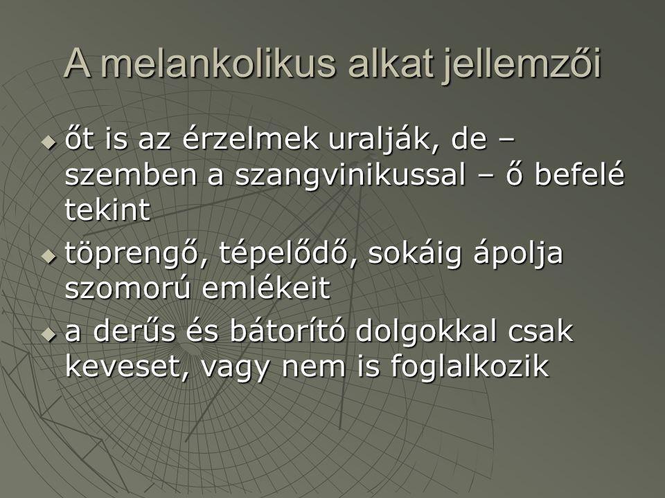 A melankolikus alkat jellemzői