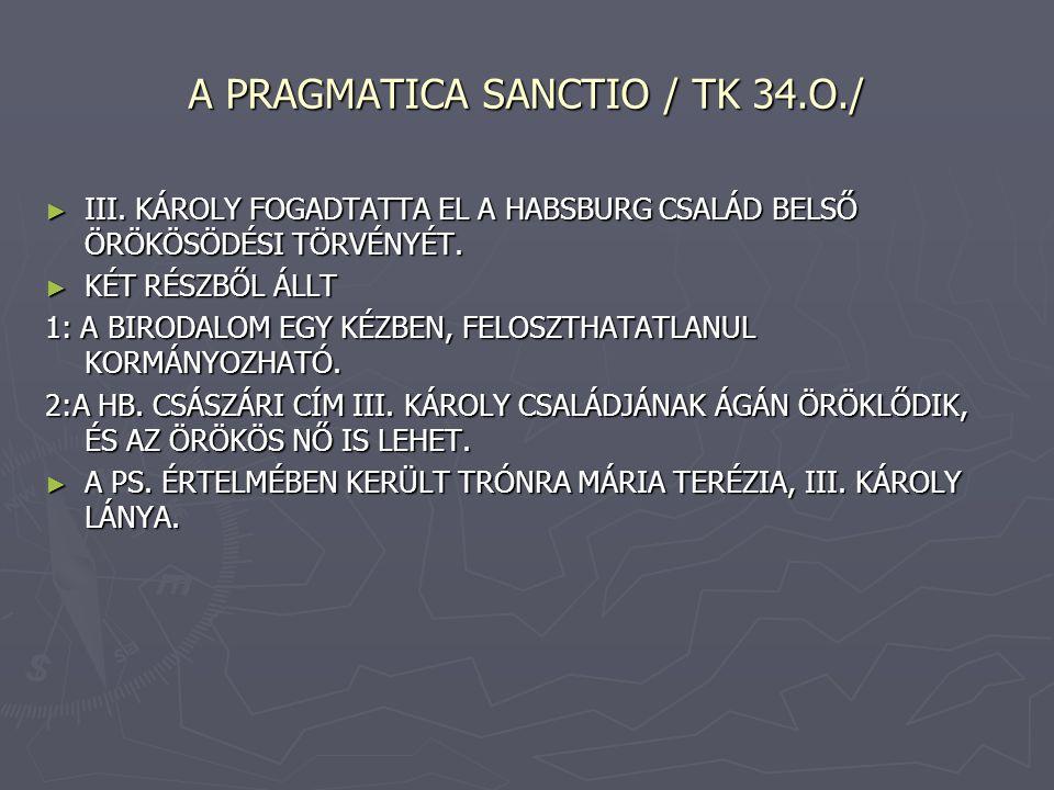 A PRAGMATICA SANCTIO / TK 34.O./