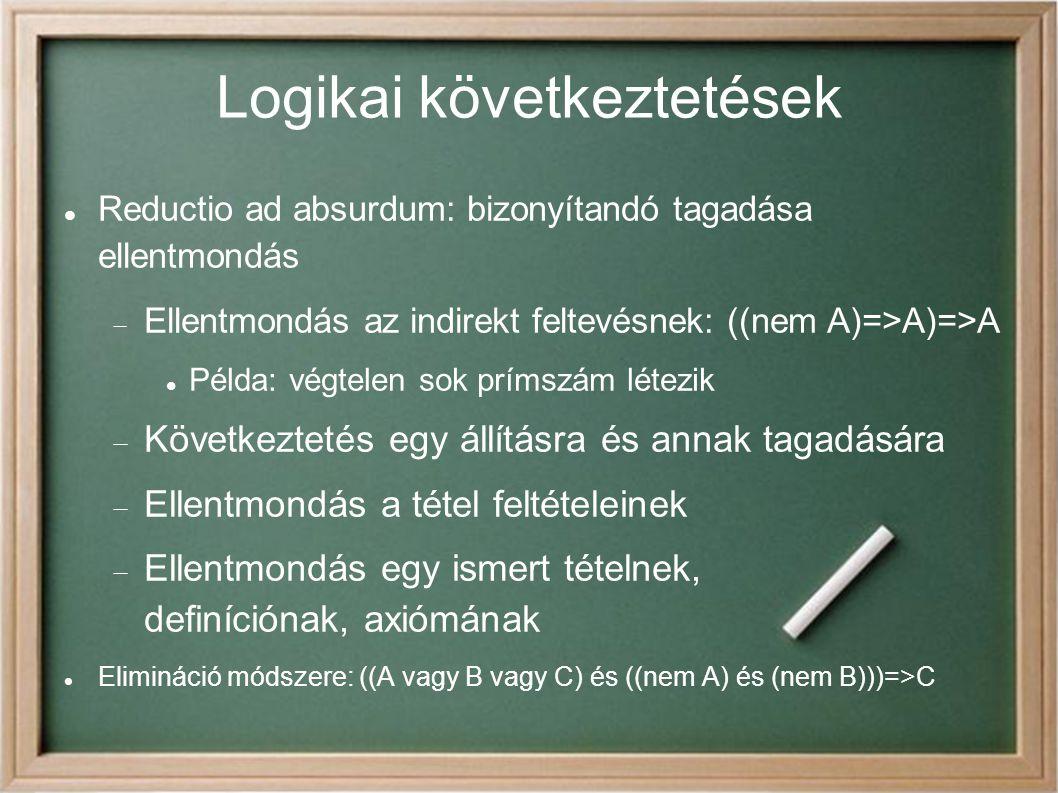 Logikai következtetések