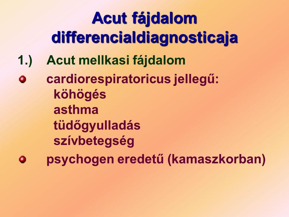 Acut fájdalom differencialdiagnosticaja