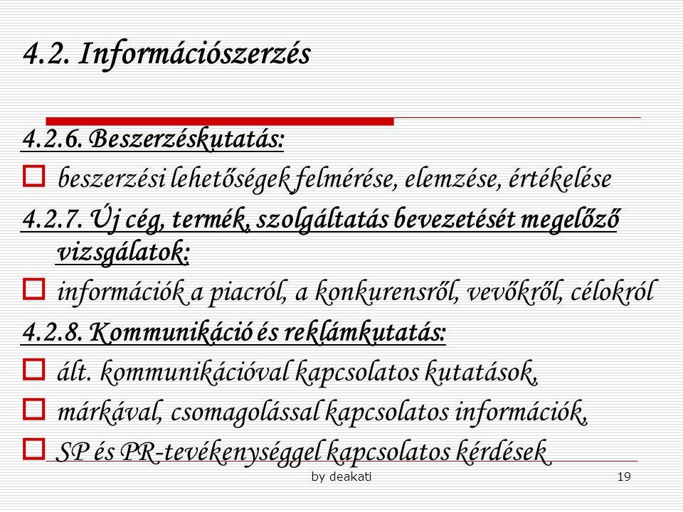 4.2. Információszerzés 4.2.6. Beszerzéskutatás: