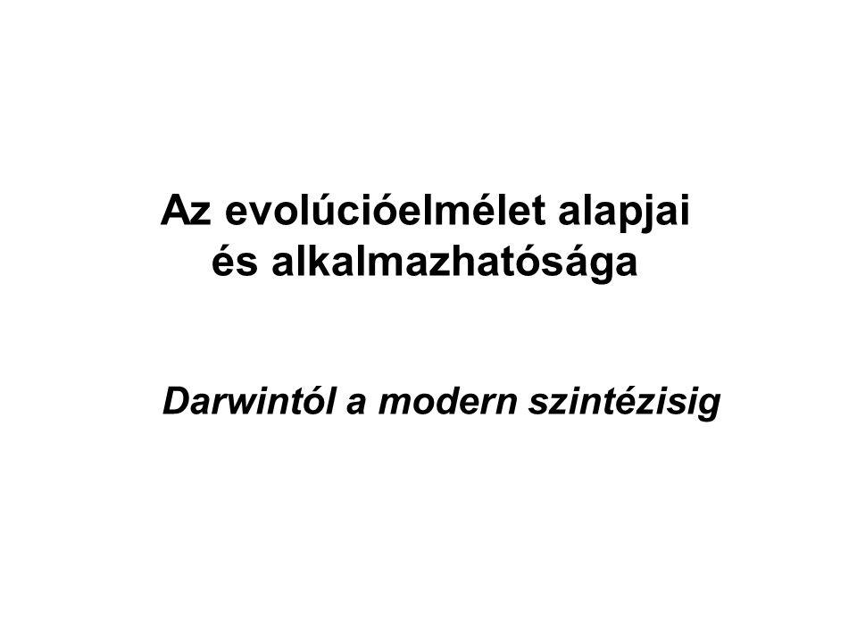 Az evolúcióelmélet alapjai Darwintól a modern szintézisig