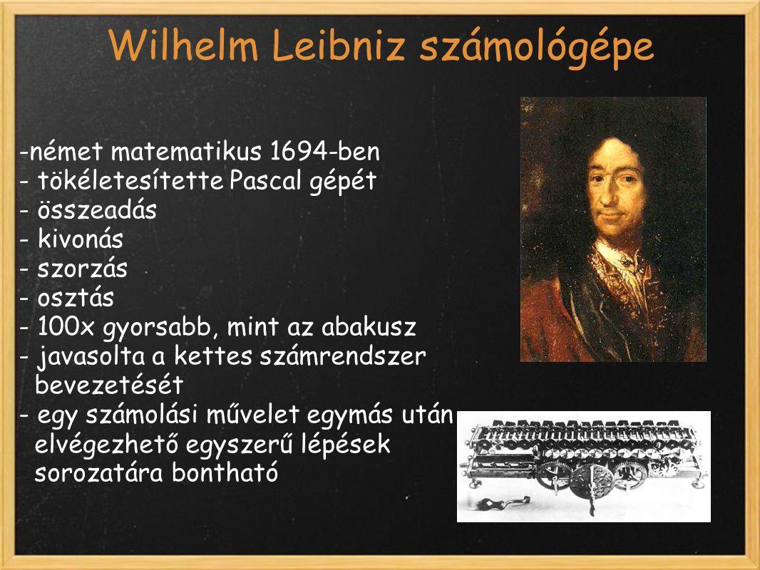 Wilhelm Leibniz számológépe