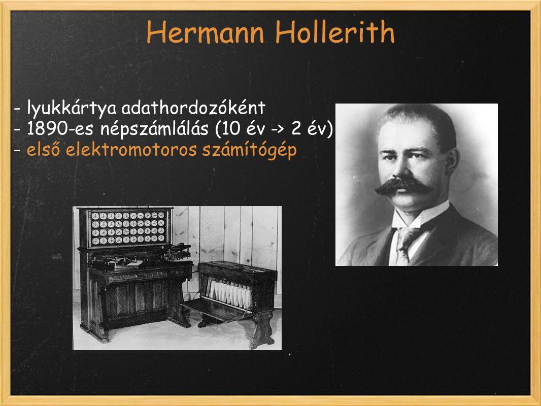 Hermann Hollerith - lyukkártya adathordozóként
