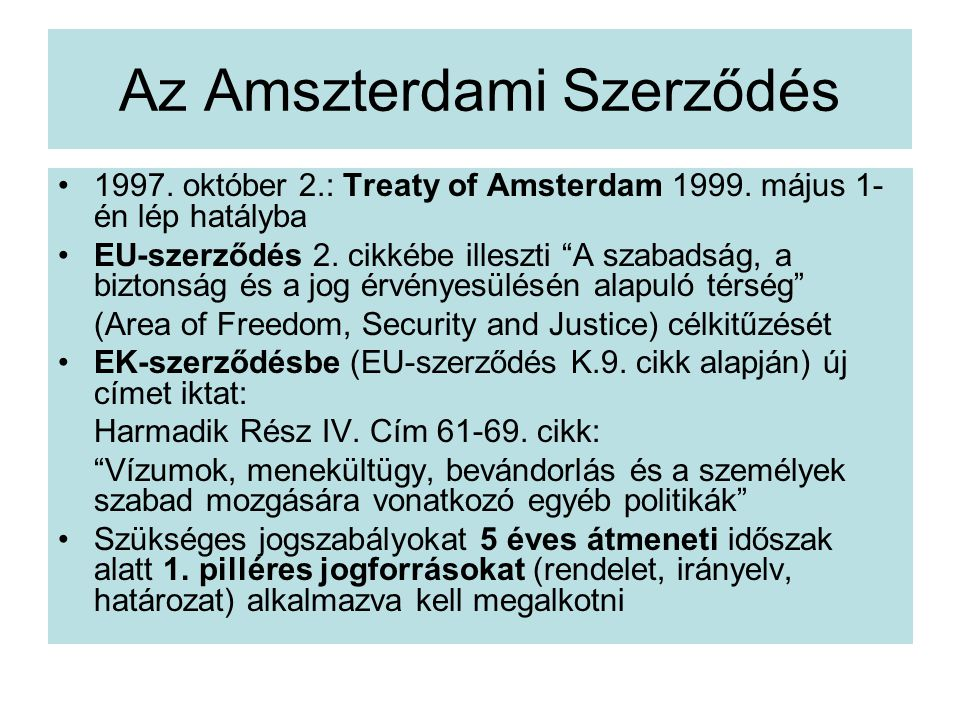 Az Amszterdami Szerződés