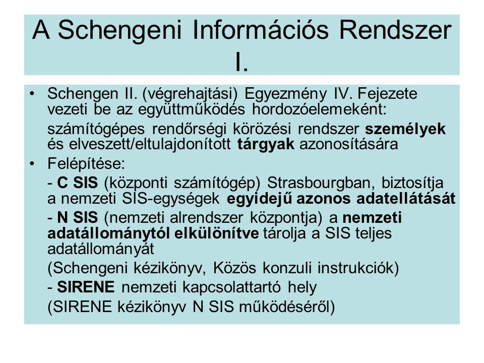 A Schengeni Információs Rendszer I.