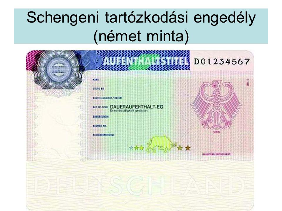 Schengeni tartózkodási engedély (német minta)