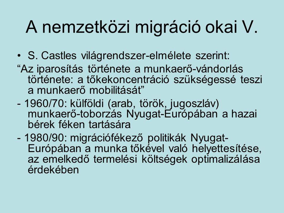 A nemzetközi migráció okai V.
